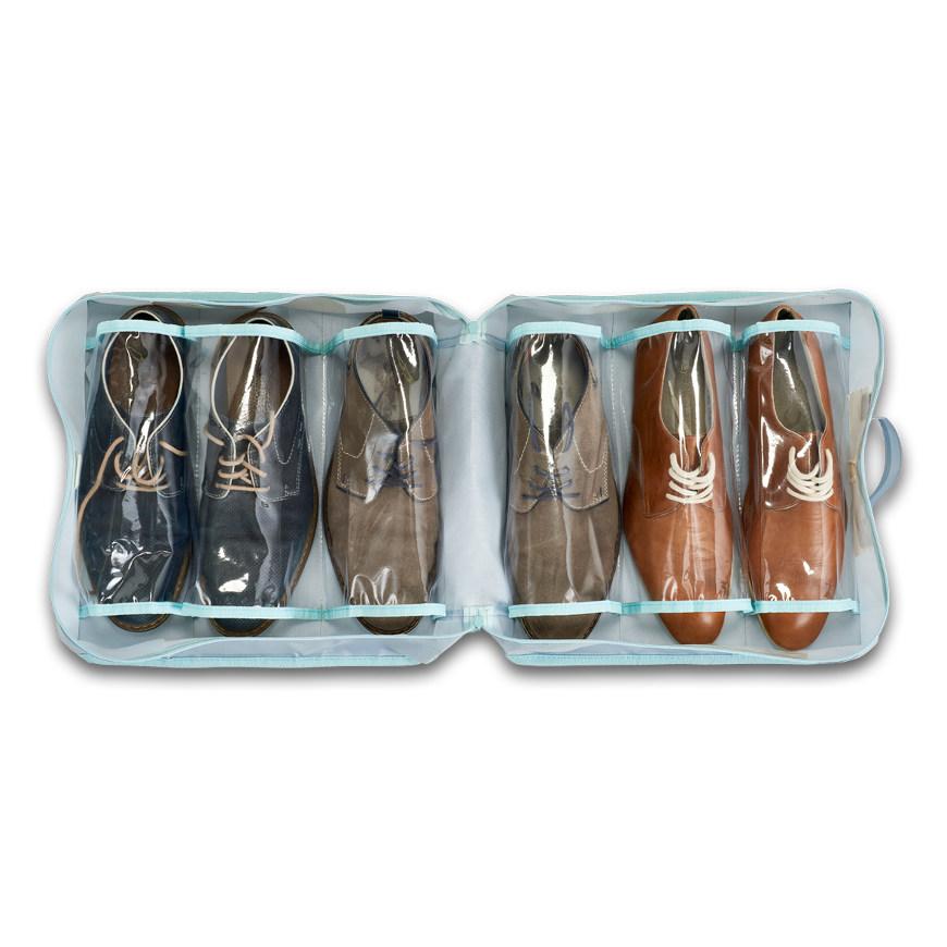 Koffer-Organizer f. Schuhe, Polyester, grau