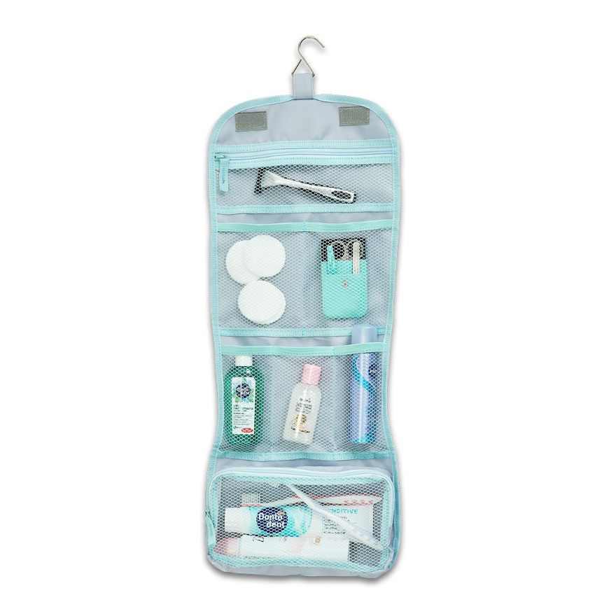 Kosmetik-Multi-Case, Polyester, grau, groß