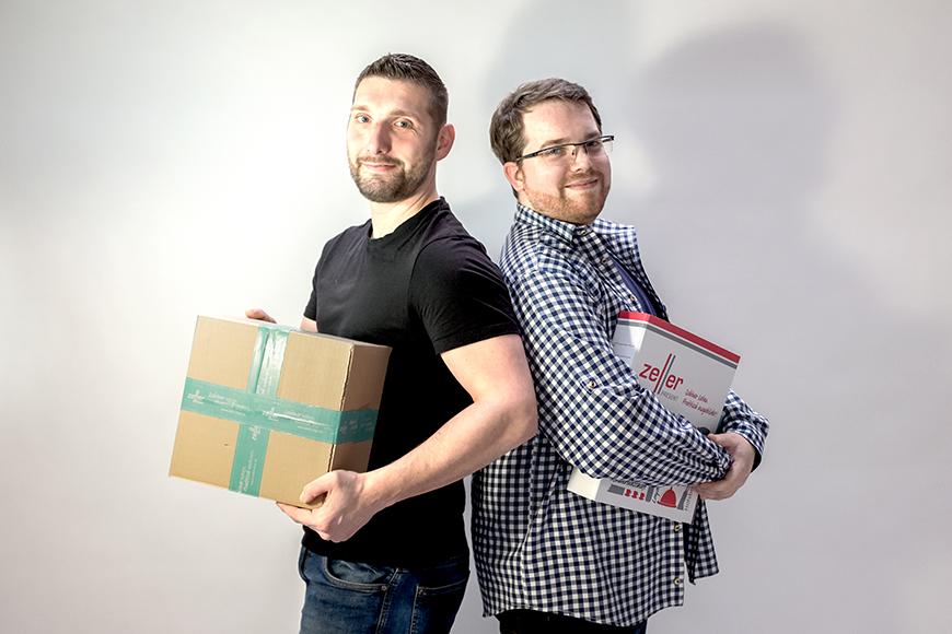 Andreas Nacken und Stefan Wolf kümmern sich um die Auszubildenden bei Zeller Present
