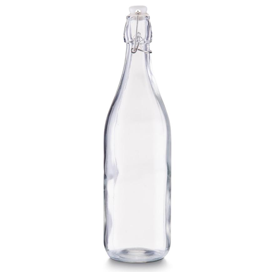 Glasflasche m. Bügelverschluss, 1000 ml