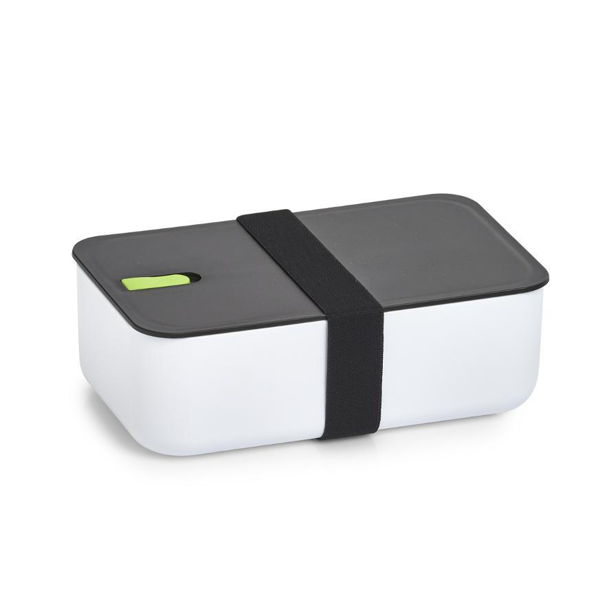 Lunch Box, Kunststoff, weiß/schwarz/grün