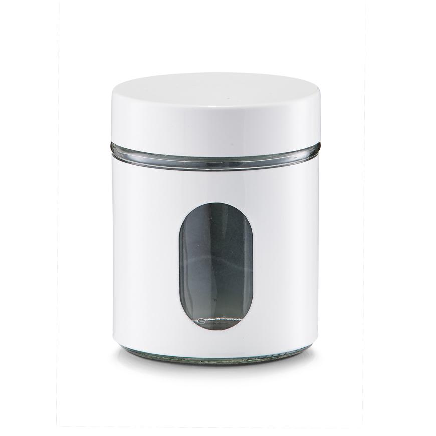 Vorratsglas, 600 ml, weiß