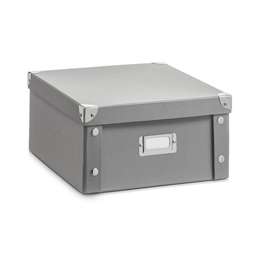 Aufbewahrungsbox, Pappe, grau