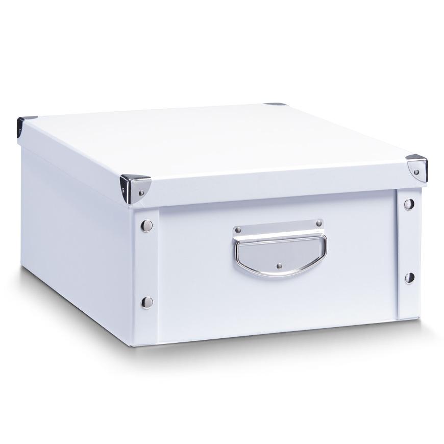 Aufbewahrungsbox, Pappe, weiß