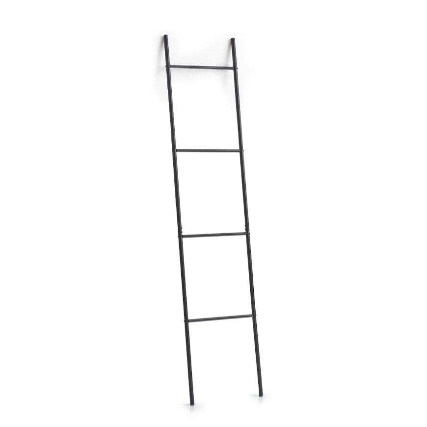 Leiter-Handtuchhalter, Metall, schwarz