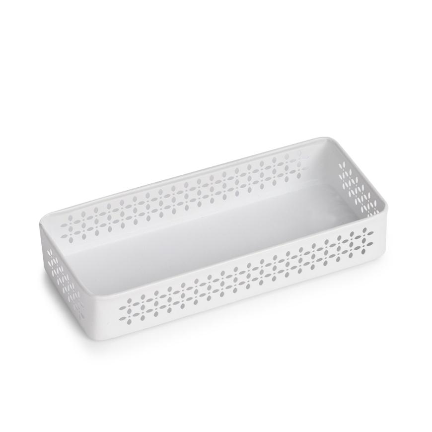 Ordnungsbox, Metall, weiß