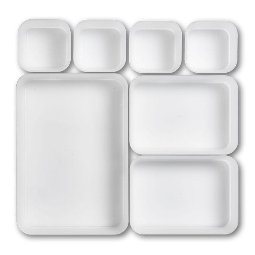 Schubladen-Einteiler, 7-er Set, Kunststoff