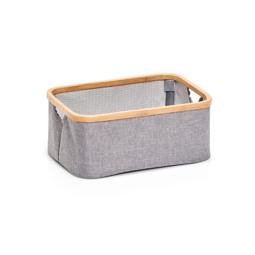 Aufbewahrungskorb, Polyester/Bamboo, grau