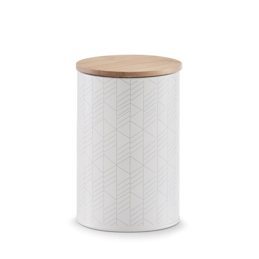 Vorratsdose, 1000 ml, Metall/Bamboo, mint